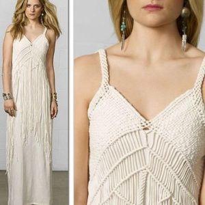 Denim & Supply Fringe Macrame Maxi Dress